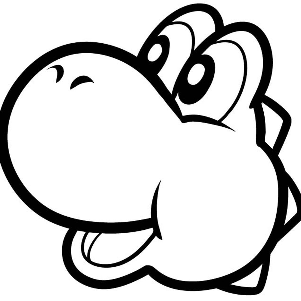 yoshi egg coloring pages decal vinyl truck car sticker video games super mario egg coloring yoshi pages