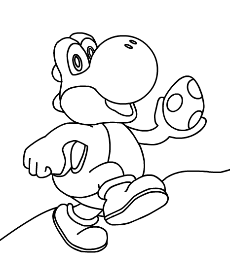 yoshi egg coloring pages super mario printables yoshi egg coloring pages