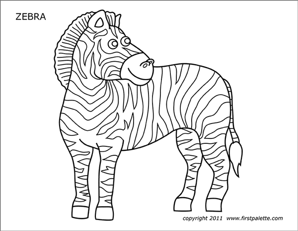 zebra coloring pages free printable 40 zebra templates free psd vector eps png format pages free coloring printable zebra