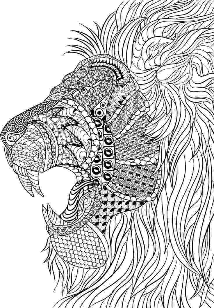 zentangle colouring pages animals lion zentangle animal coloring pages for adults pages colouring zentangle animals