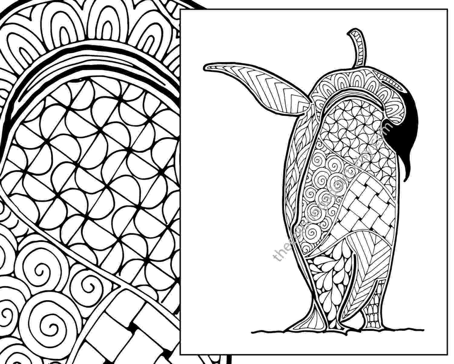 zentangle colouring pages animals penguin coloring sheet animal coloring pdf zentangle animals zentangle colouring pages