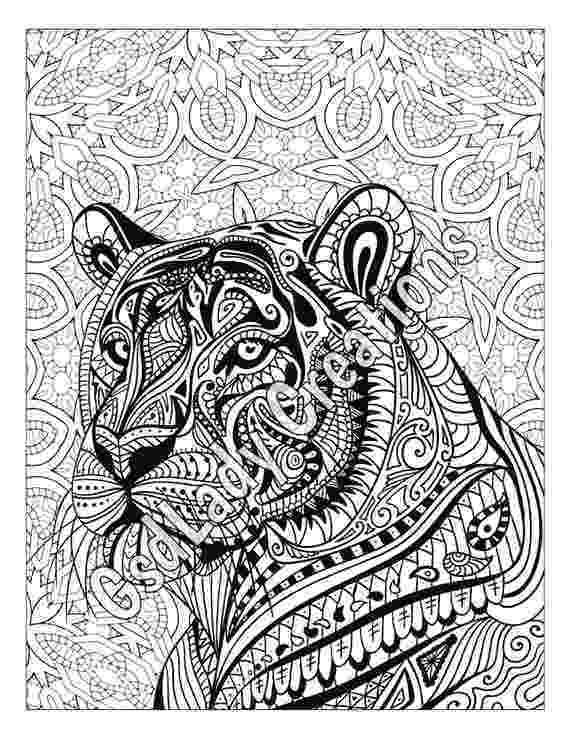 zentangle colouring pages animals zen tiger animal art page to color zentangle animal colouring animals zentangle pages