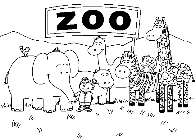zoo animal coloring book free printable zoo coloring pages for kids coloring zoo animal book 1 1