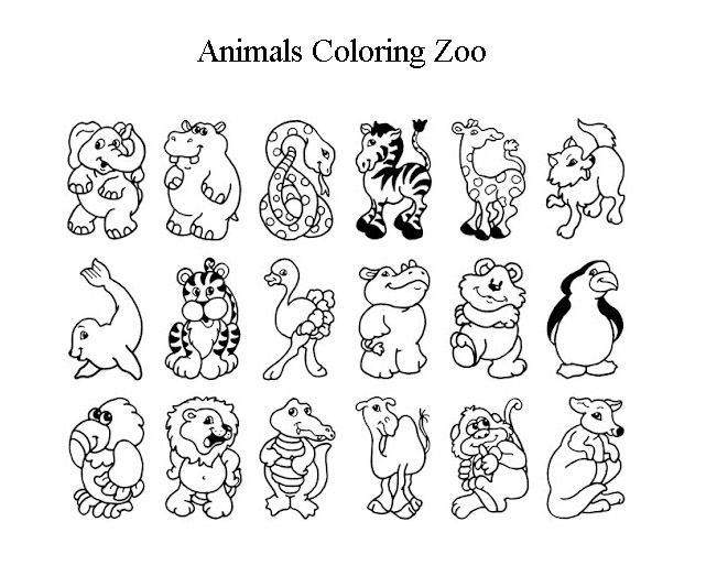 zoo animal coloring book zoo coloring pages getcoloringpagescom coloring book animal zoo