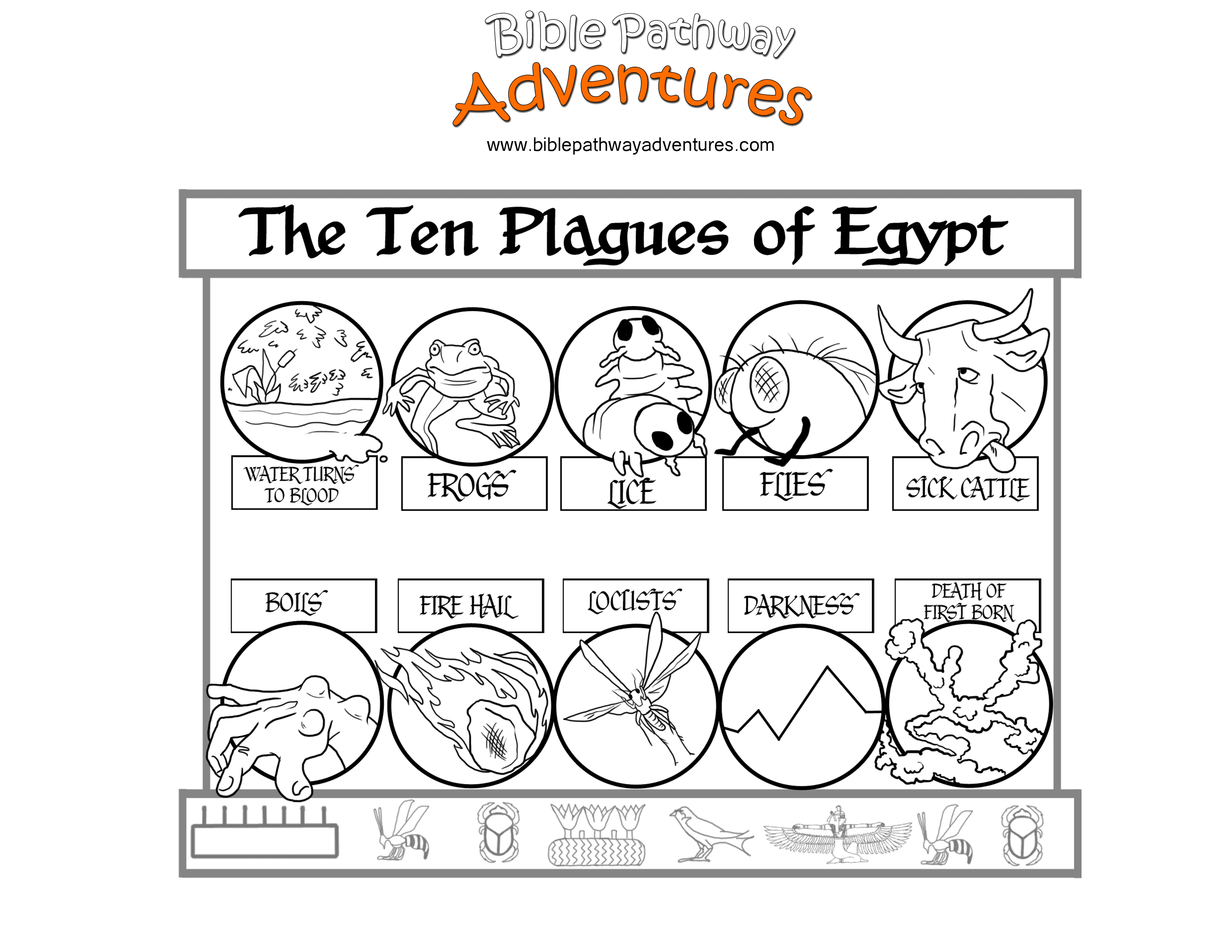 10 plagues coloring pages serendipity hollow ten plagues match game fhe plagues 10 coloring pages
