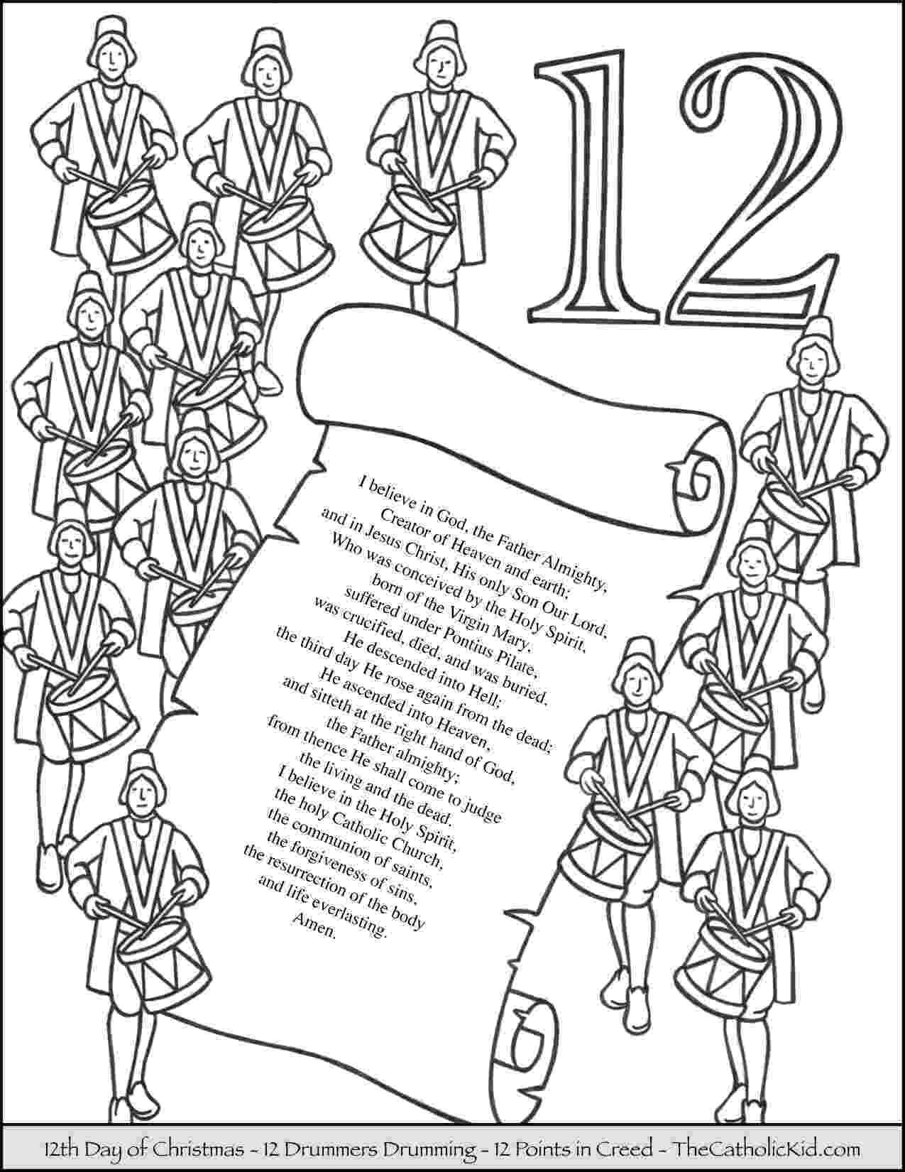 12 days of christmas coloring pages 12 days of christmas coloring pages thecatholickidcom pages coloring days christmas of 12
