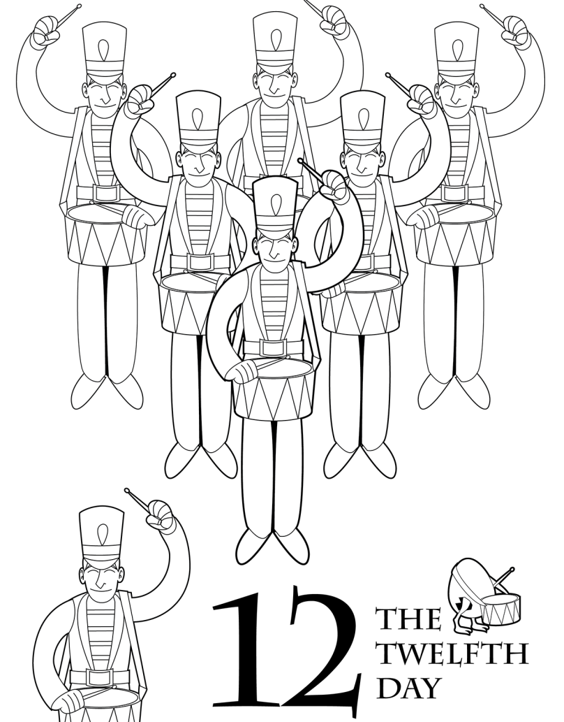 12 days of christmas coloring pages the 12 days of christmas coloring book scholastic parents of christmas days coloring pages 12