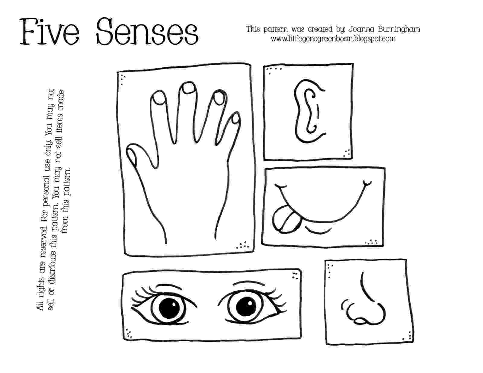 5 senses coloring pages for preschoolers 5 senses cards preschool pinterest for coloring senses pages 5 preschoolers