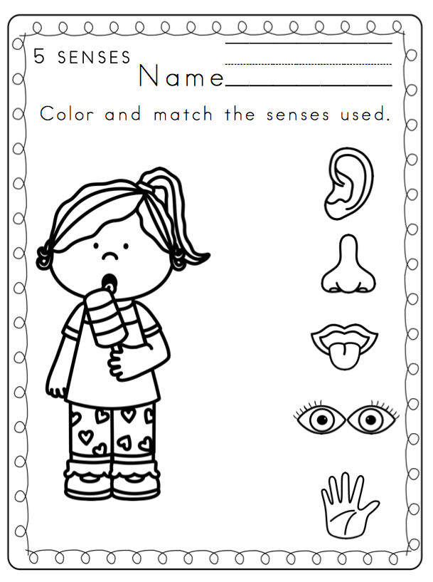 5 senses coloring pages for preschoolers pin by jessica halverson on tk crafts five senses preschoolers for senses 5 coloring pages