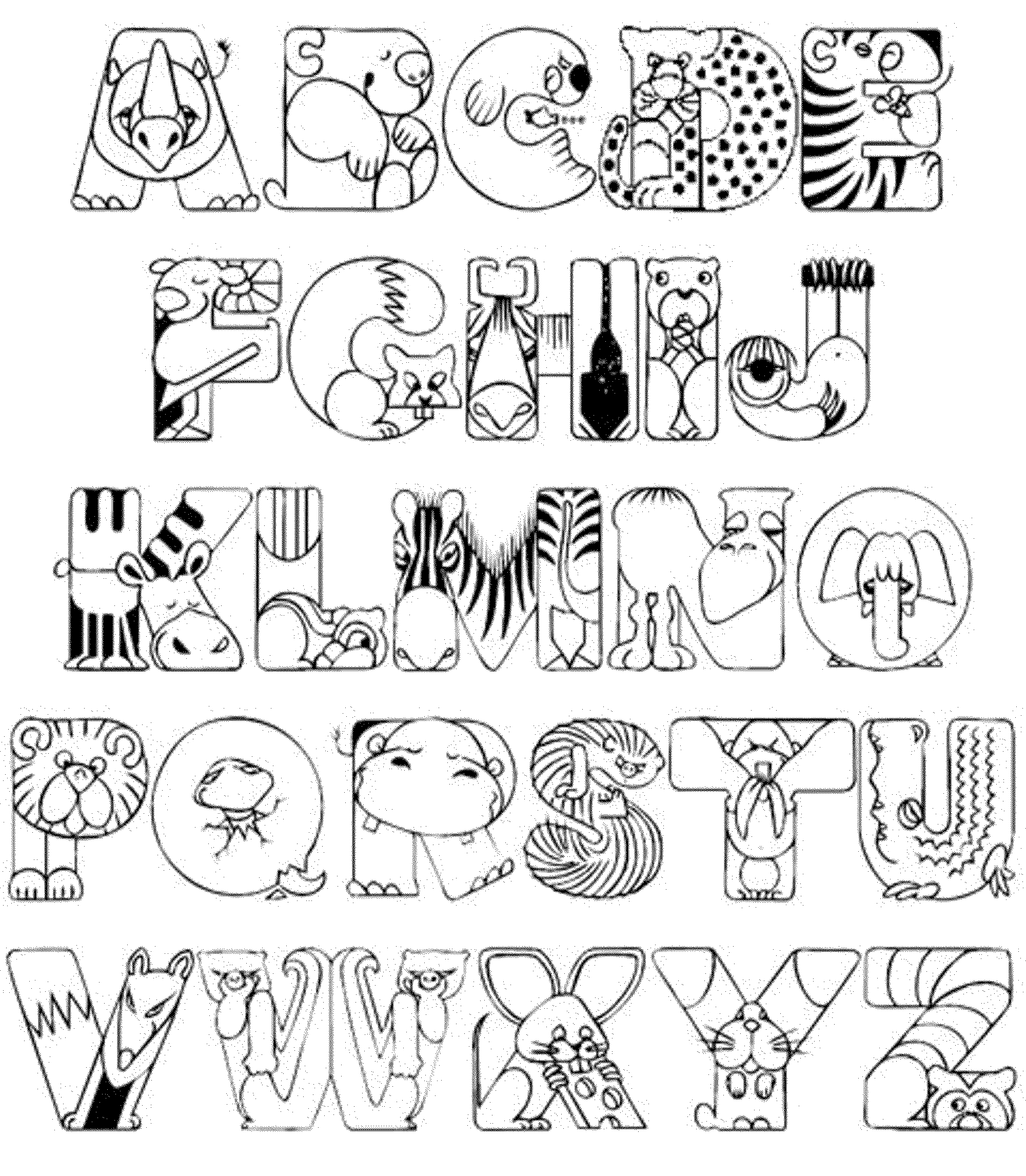 abc coloring book printable free printable alphabet coloring pages for kids best book coloring printable abc