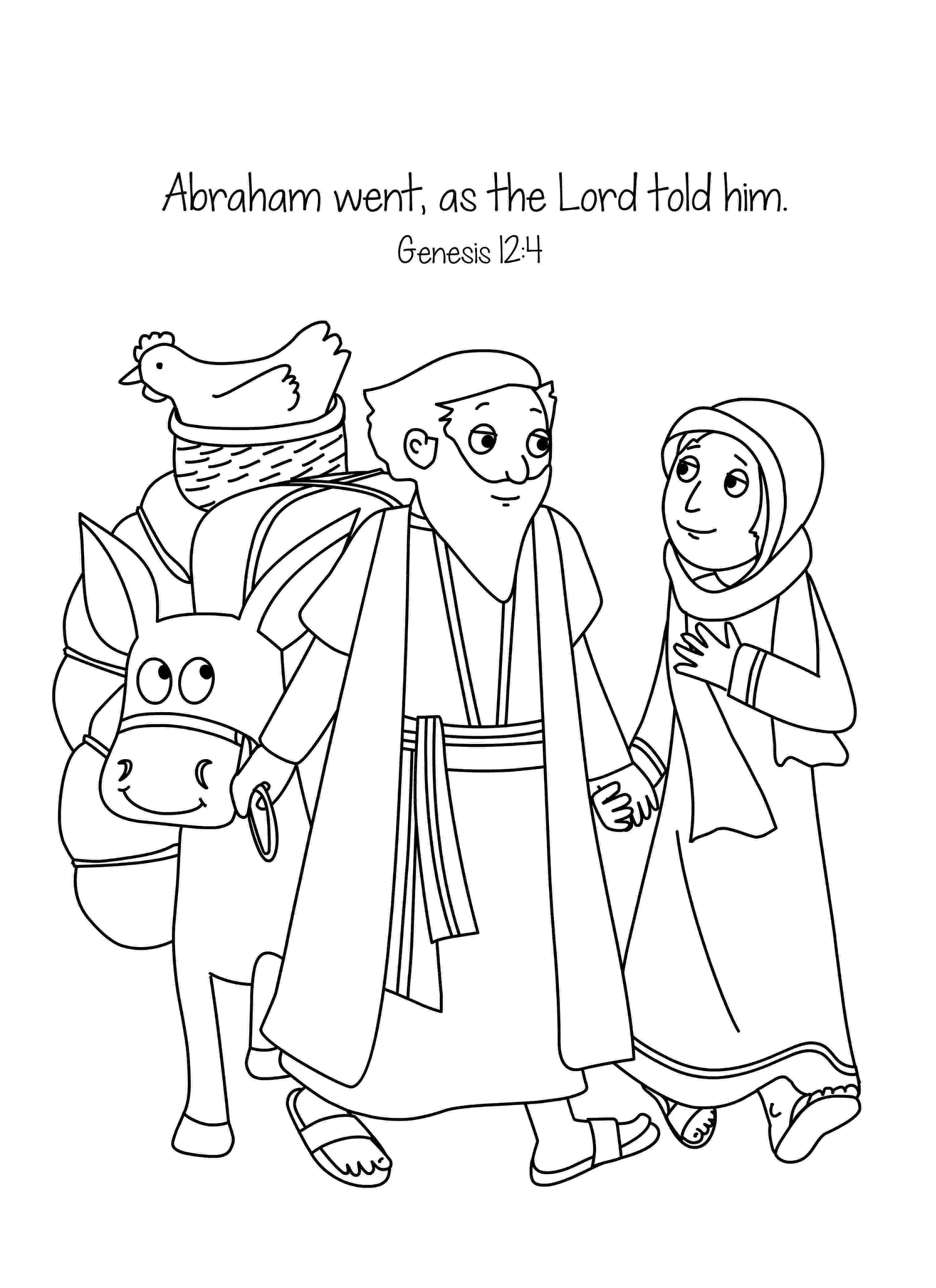 abraham coloring sheet free bible coloring page abraham and sara a new home abraham sheet coloring