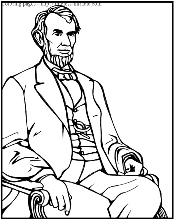 abraham lincoln color abraham lincoln colouring pages timeless miraclecom lincoln abraham color