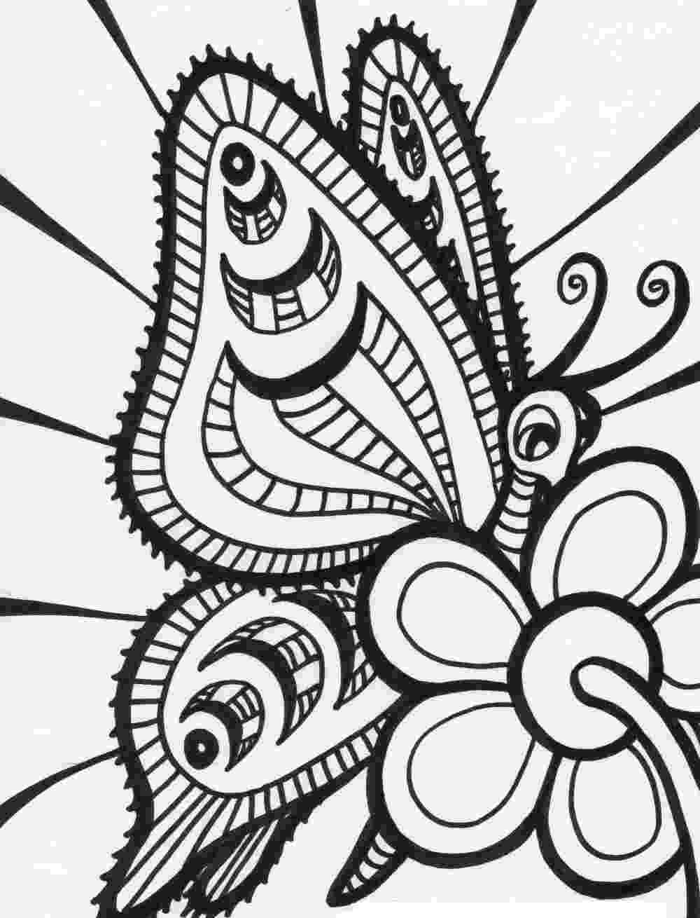 adult coloring pages abstract free printable butterfly coloring pages for kids adult pages abstract coloring