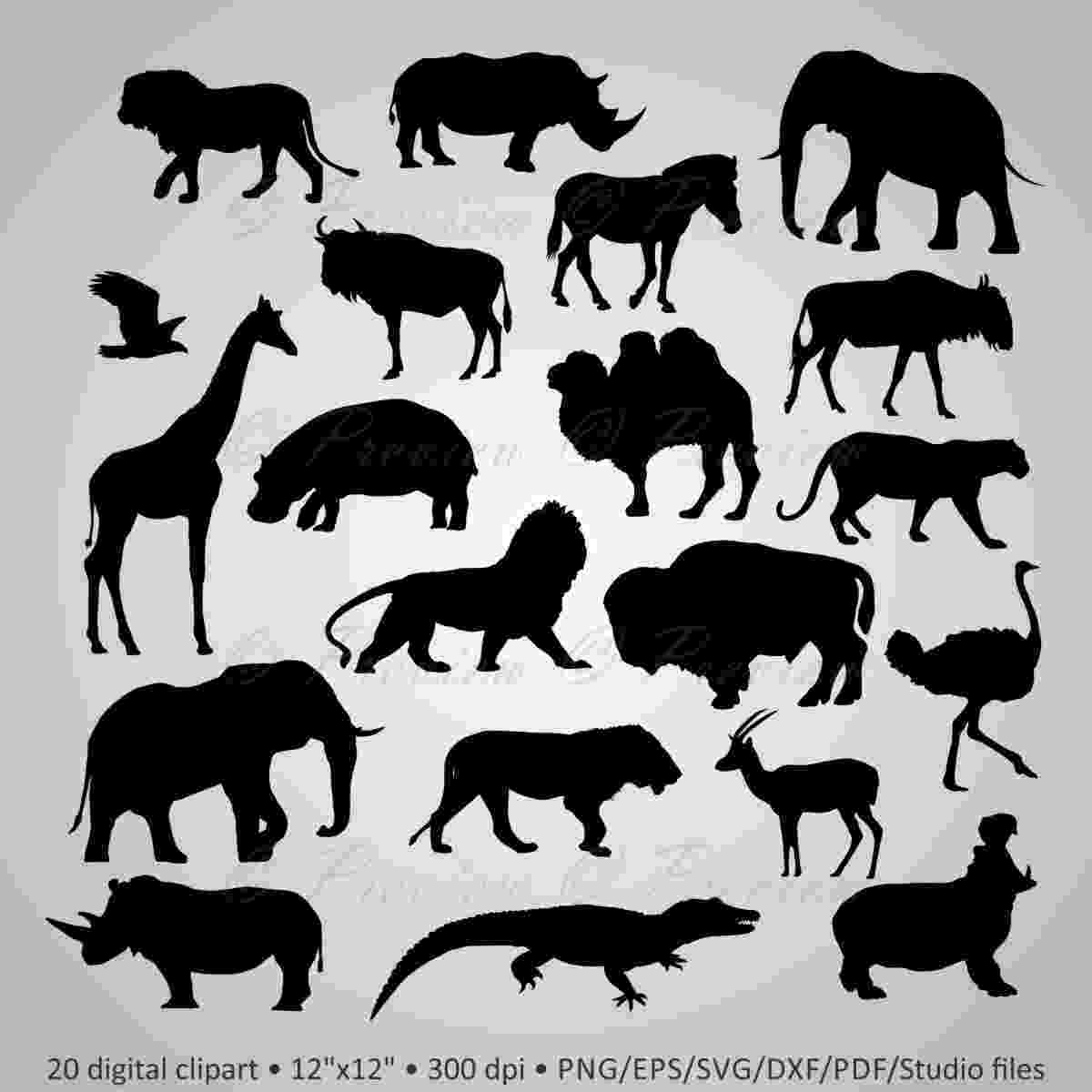 african animals buy 2 get 1 free digital clipart african wild animals etsy animals african