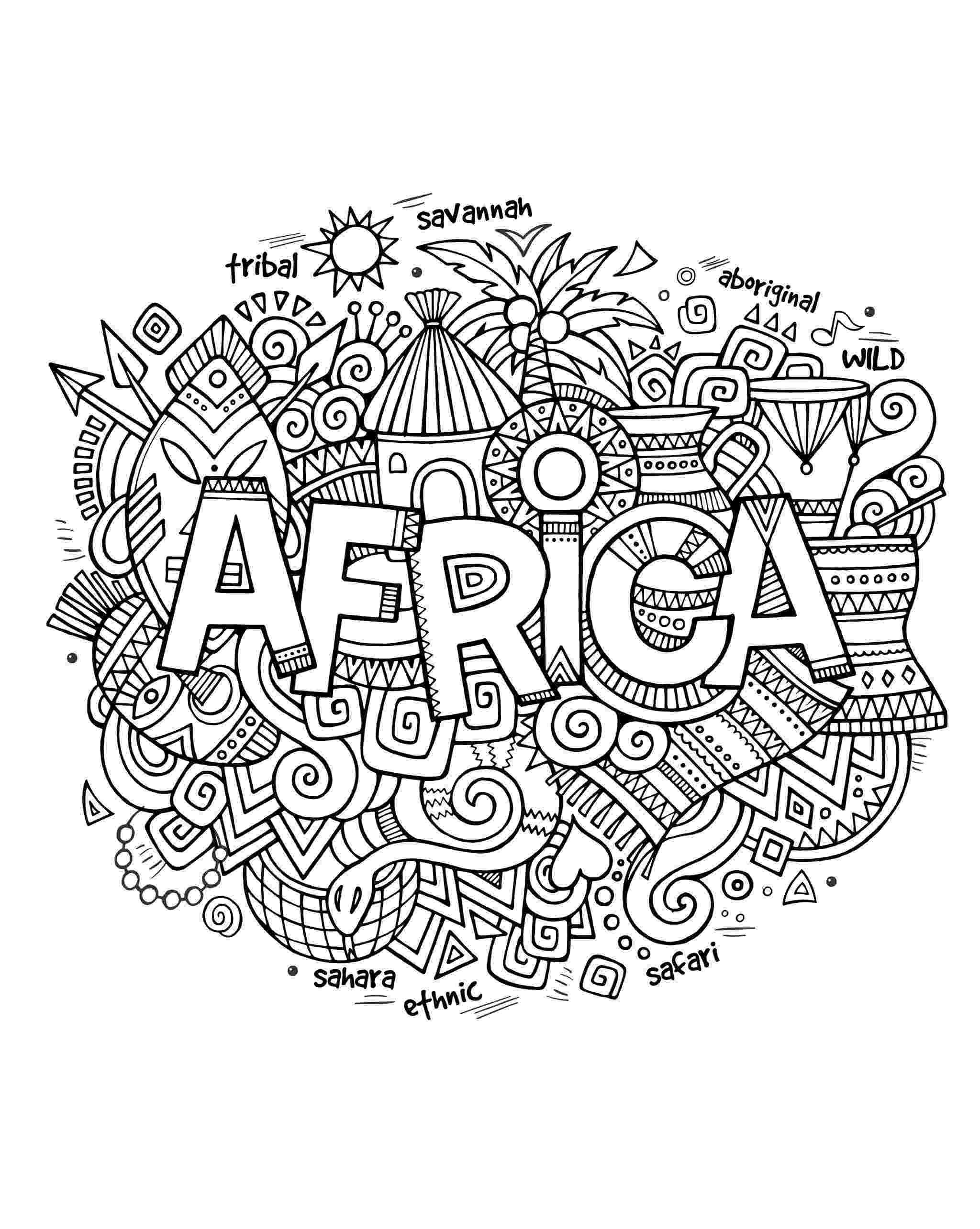 african coloring pages african color sheets for kids african woman africa african coloring pages
