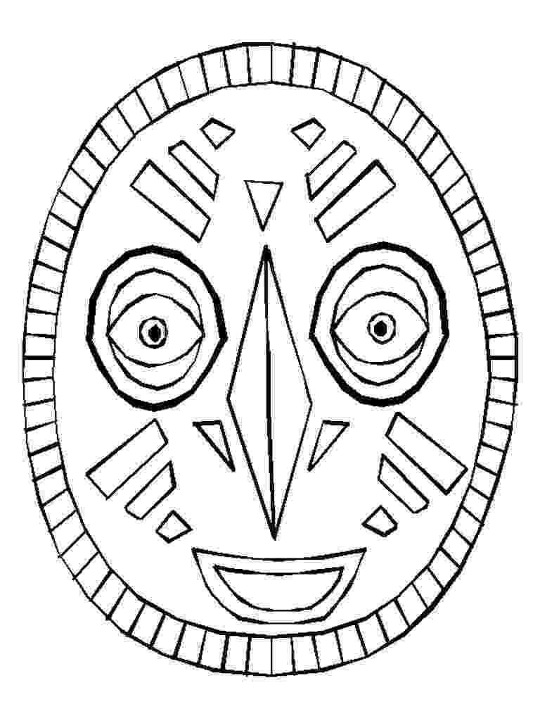 african mask template african mask template masks template mask african