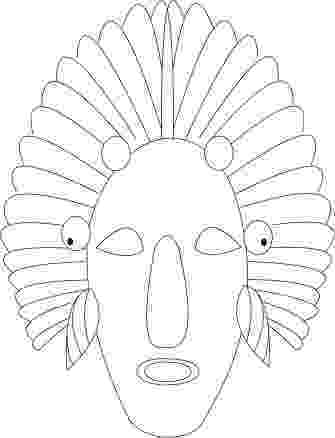 african mask template african masks templates to colour google search vbs mask template african