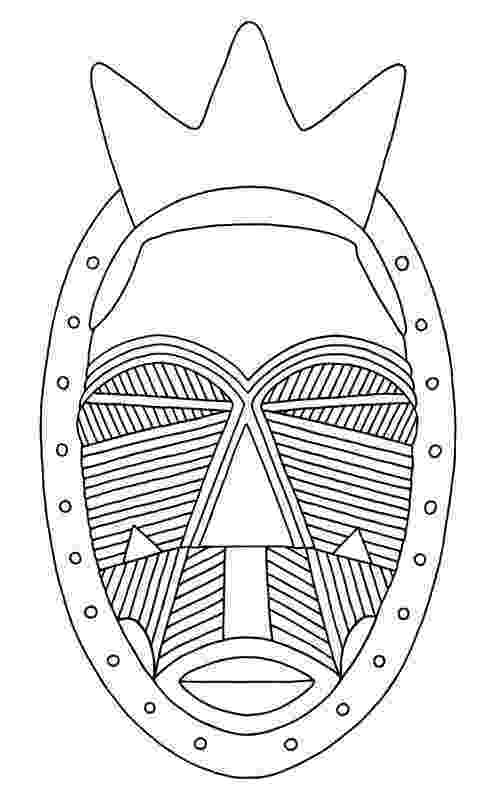 african mask template african wooden mask coloring page free printable african template mask