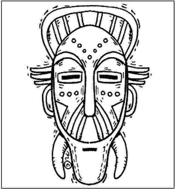 african mask template free african mask coloring pages african mask coloring african mask template