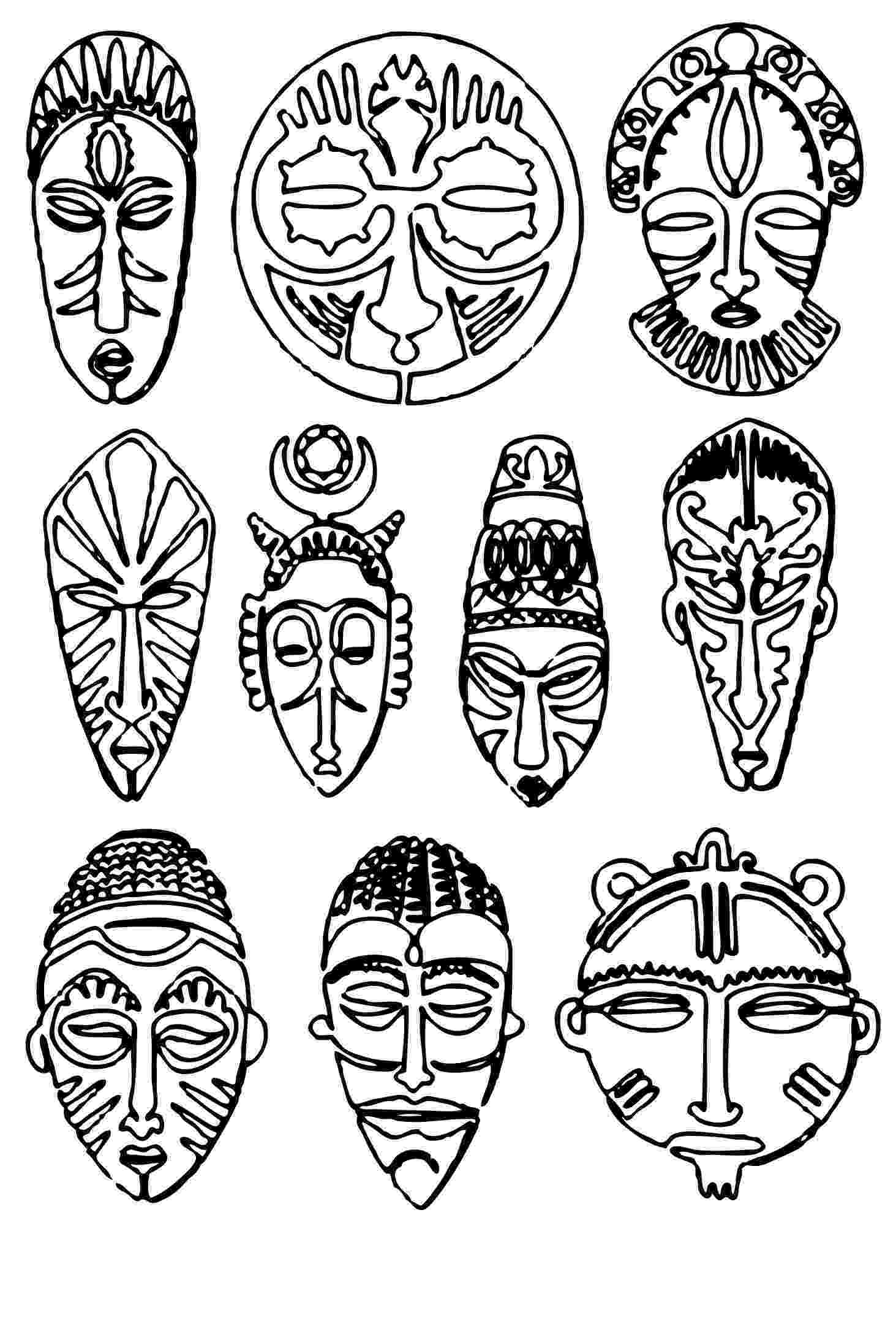 african mask template httpmedia cache ec0pinimgcomoriginals4c9760 mask template african