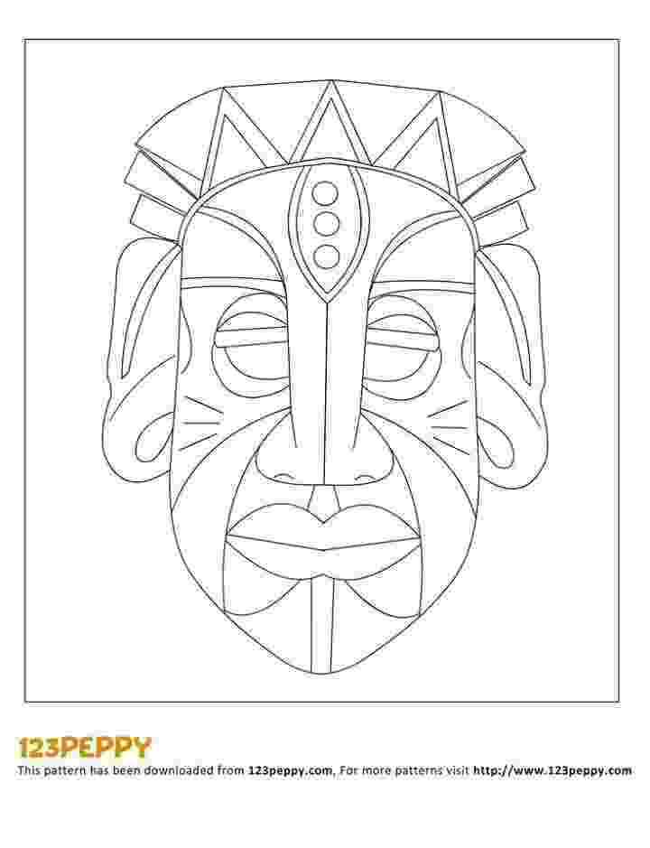 african mask template pin by iris ishay on יצירה לילדים masques africains mask template african