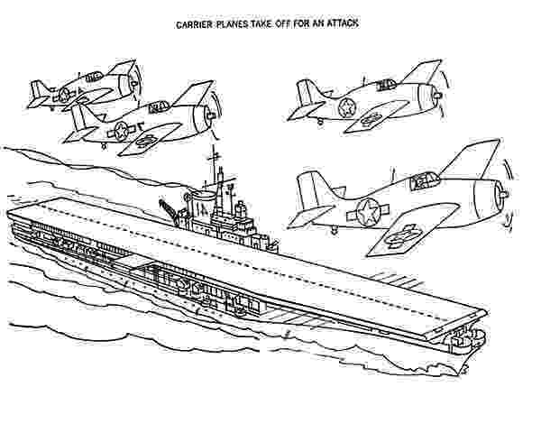aircraft carrier coloring page aircraft carrier plane take off for an attack coloring coloring carrier aircraft page