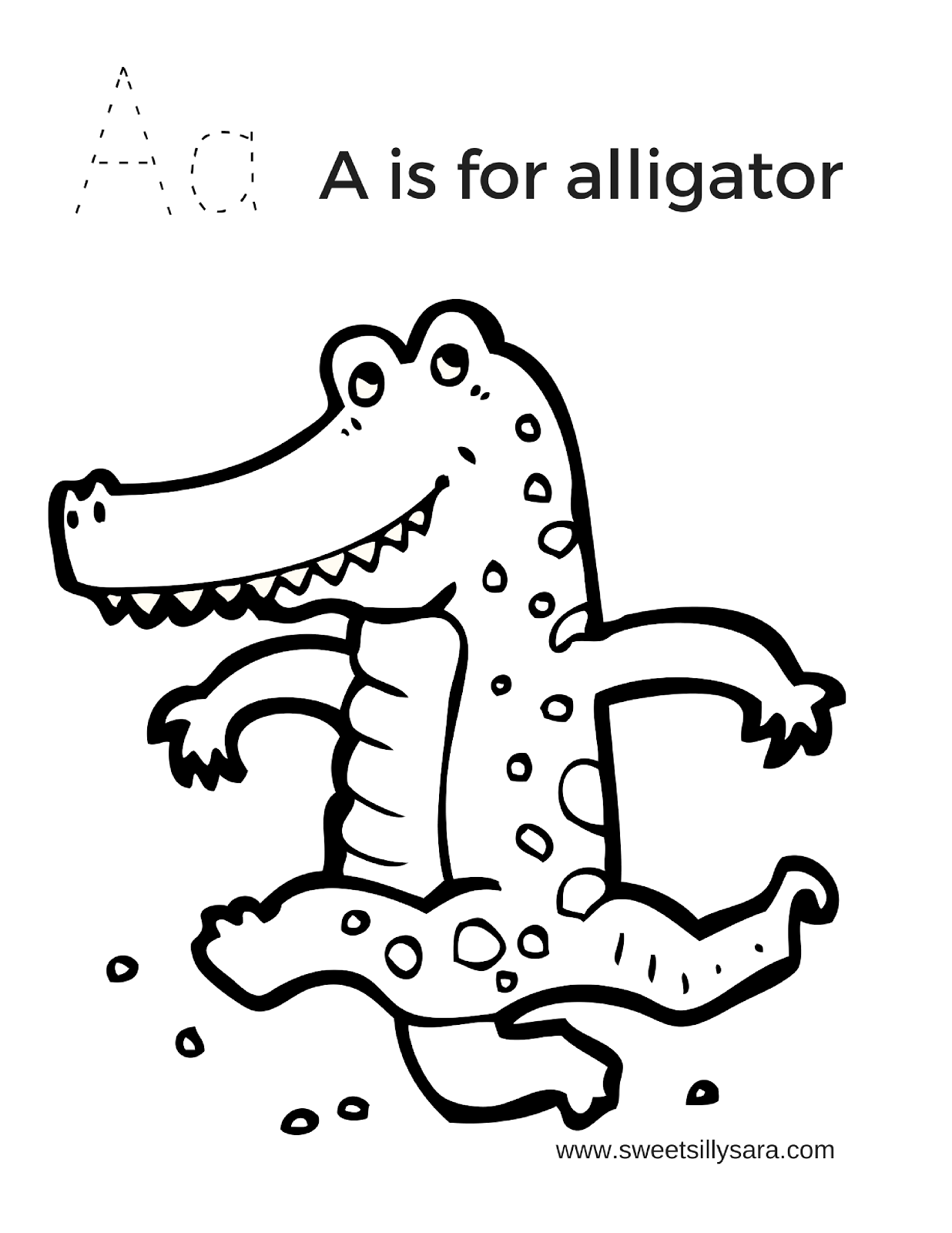 aligator coloring pages sweet silly sara a is for alligator coloring page coloring pages aligator