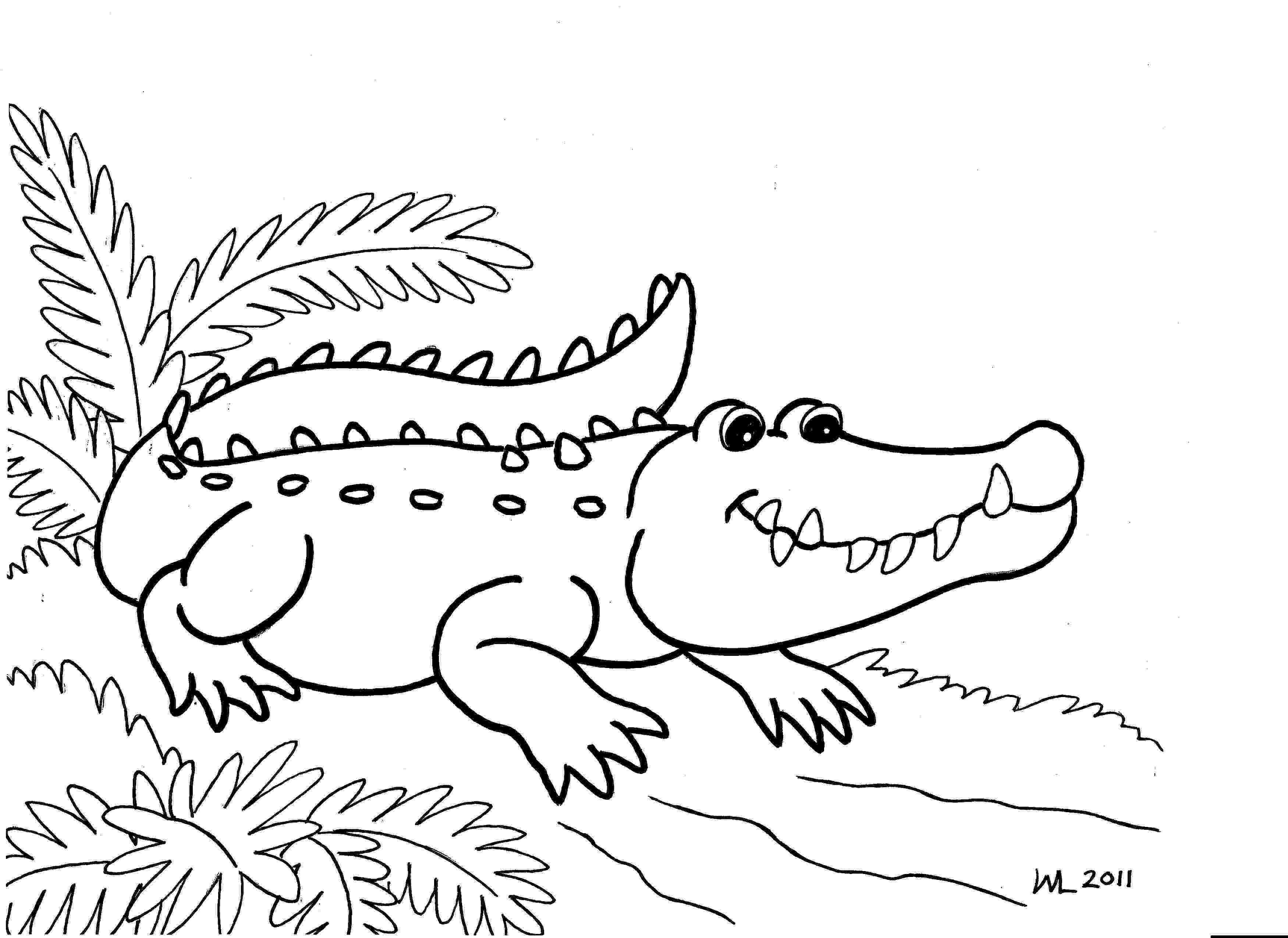 alligator color free printable alligator coloring pages for kids alligator color 1 3