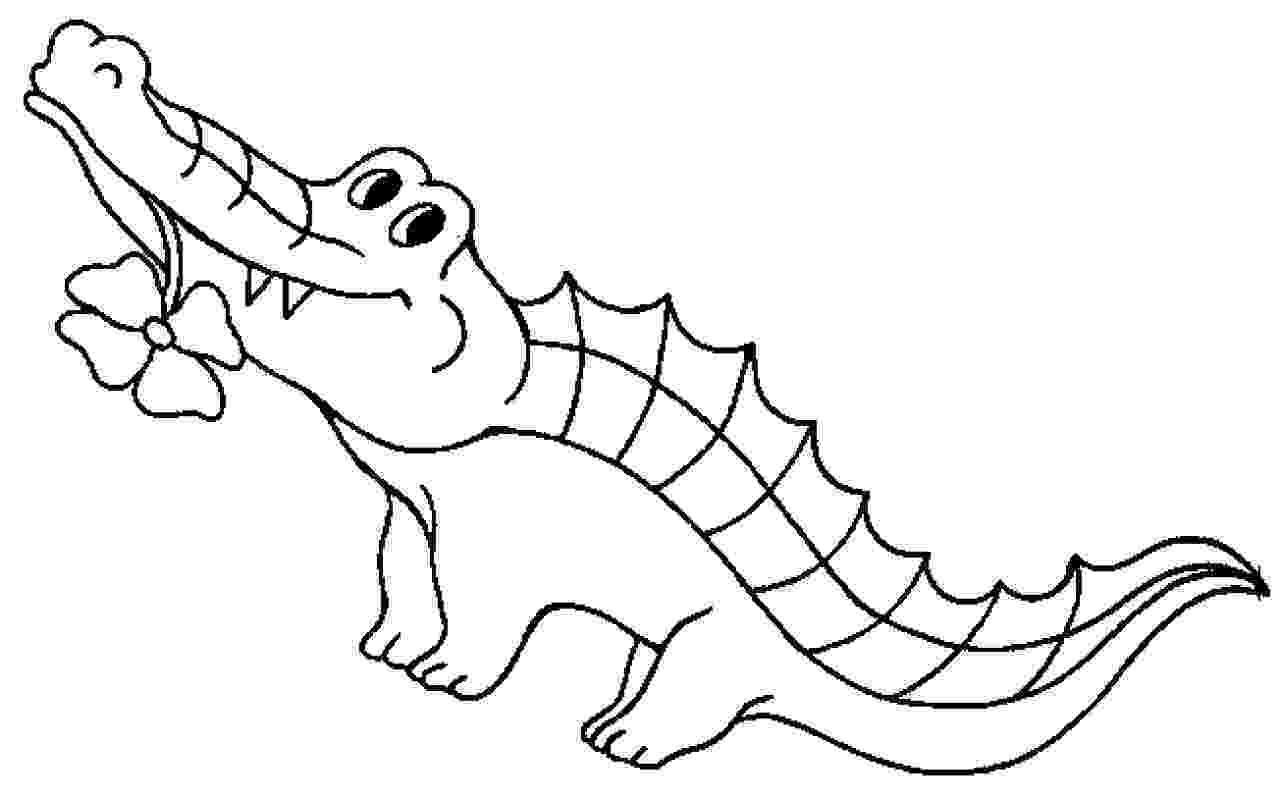 alligator color free printable crocodile coloring pages for kids alligator color