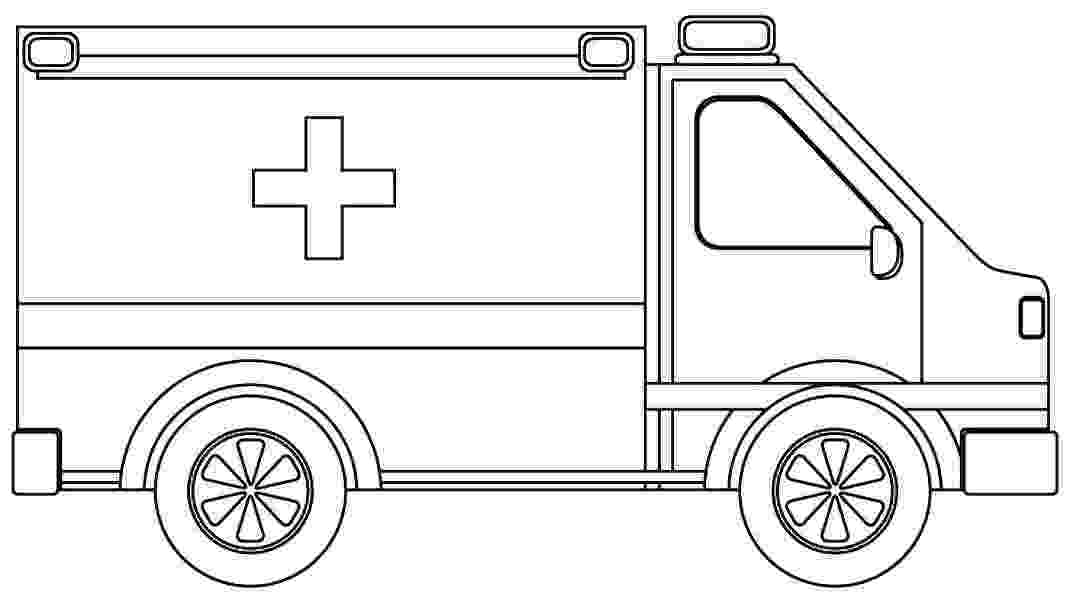 ambulance colouring pages minivan drawing at getdrawingscom free for personal use colouring pages ambulance