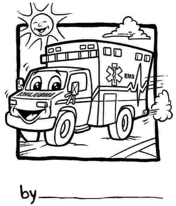 ambulance pictures to color ambulance coloring pages getcoloringpagescom pictures ambulance color to