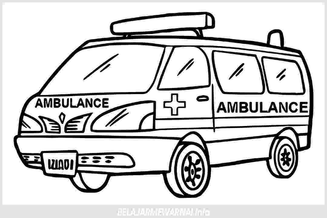 ambulance pictures to color ambulance coloring pages getcoloringpagescom to ambulance pictures color