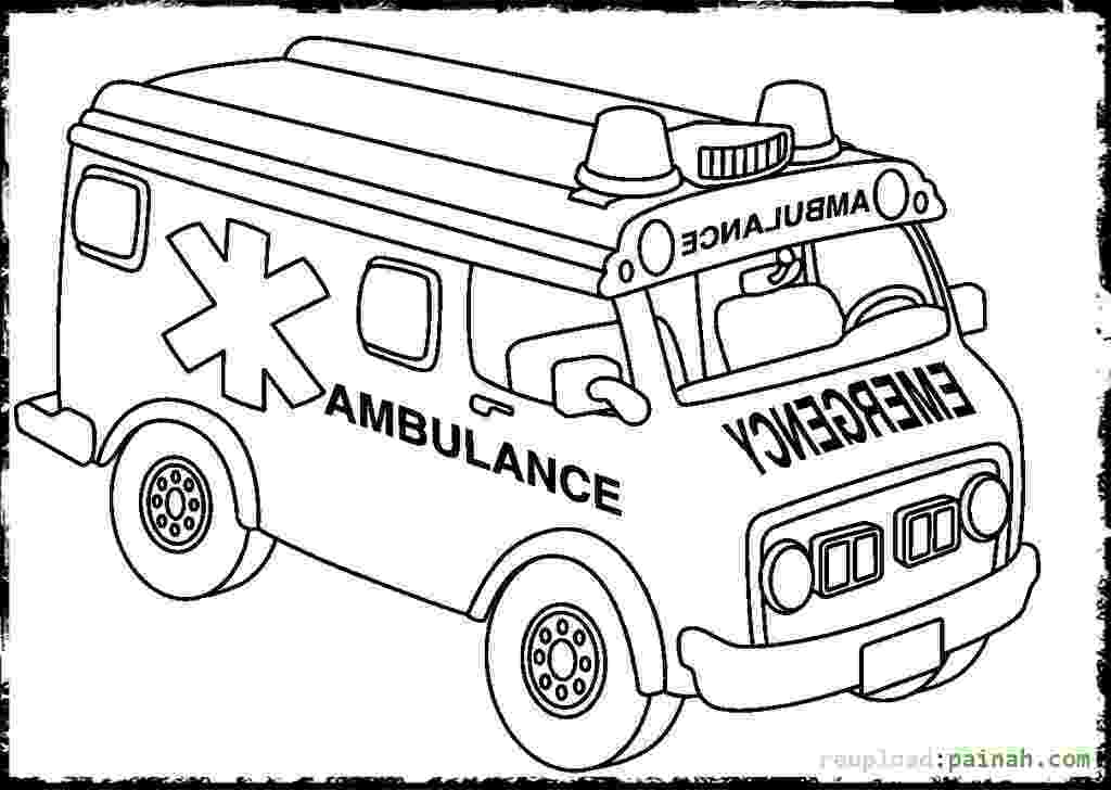 ambulance pictures to color ambulance sketch at paintingvalleycom explore color pictures to ambulance