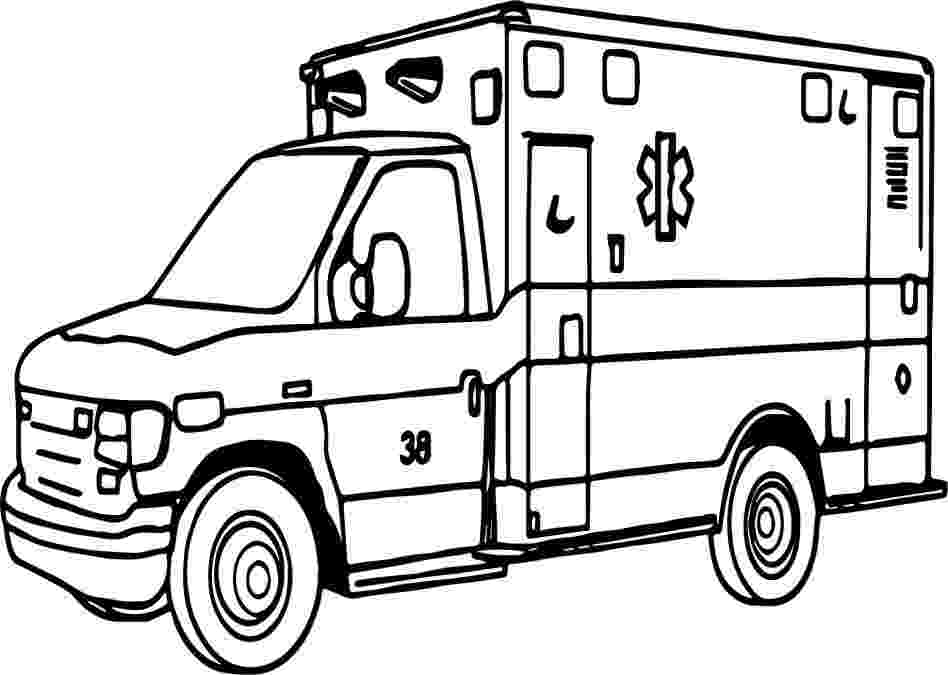 ambulance pictures to color awesome ambulance colouring pages picolour color pictures ambulance to