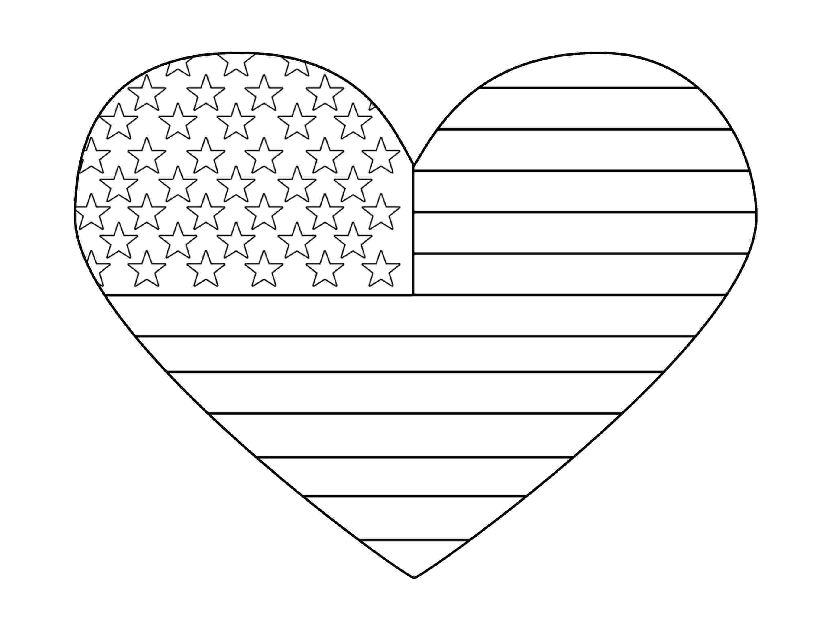 american flag heart coloring page flag daychildrens stories poems carolyn39s compositions flag american coloring page heart