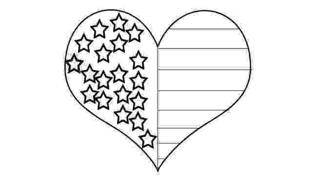 american flag heart coloring page heart coloring pages patriotic heart 2 coloring page heart flag american page coloring