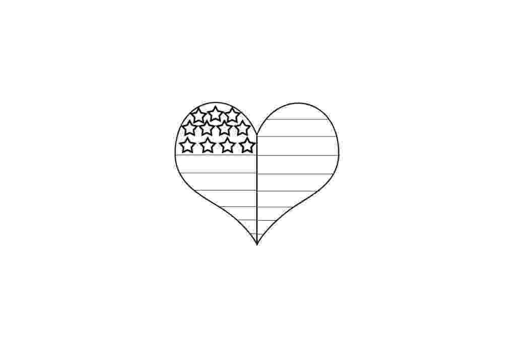 american flag heart coloring page waving american flag stencil google search patriotic page coloring american heart flag