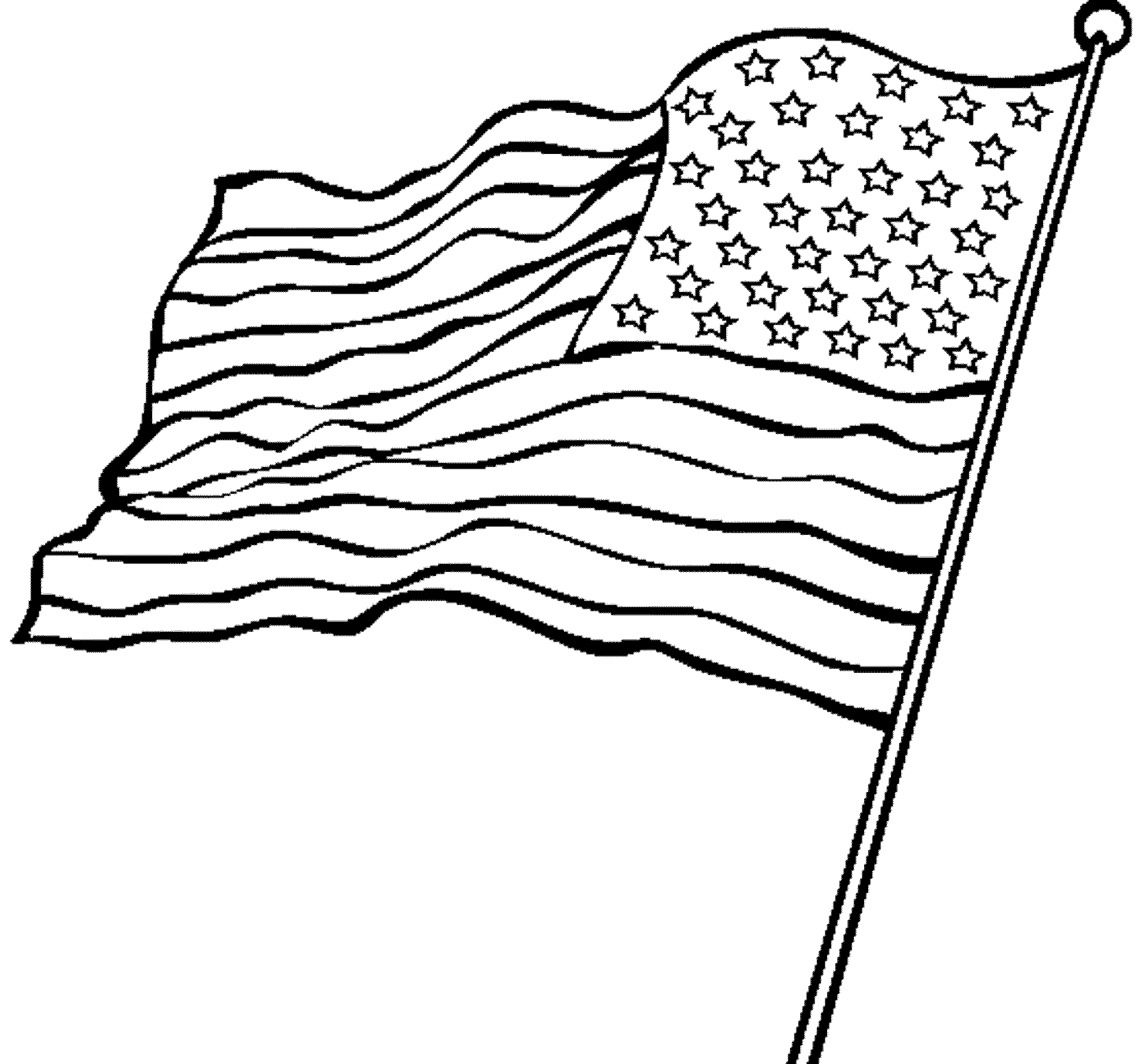 american flag to color waving american flag drawing clipartsco color to flag american