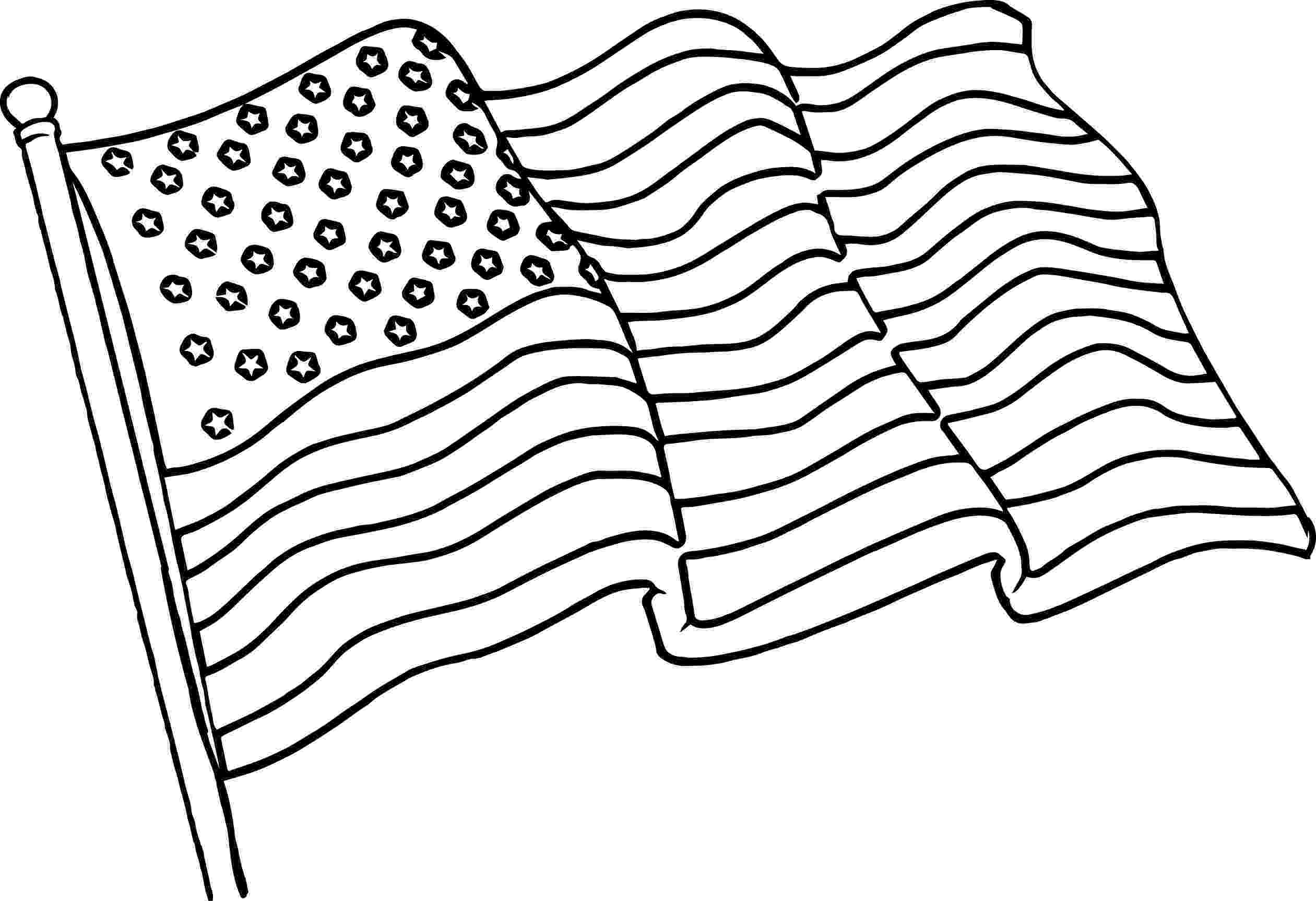 american flag to colour printable flag coloring page line drawing fo an american american flag to colour