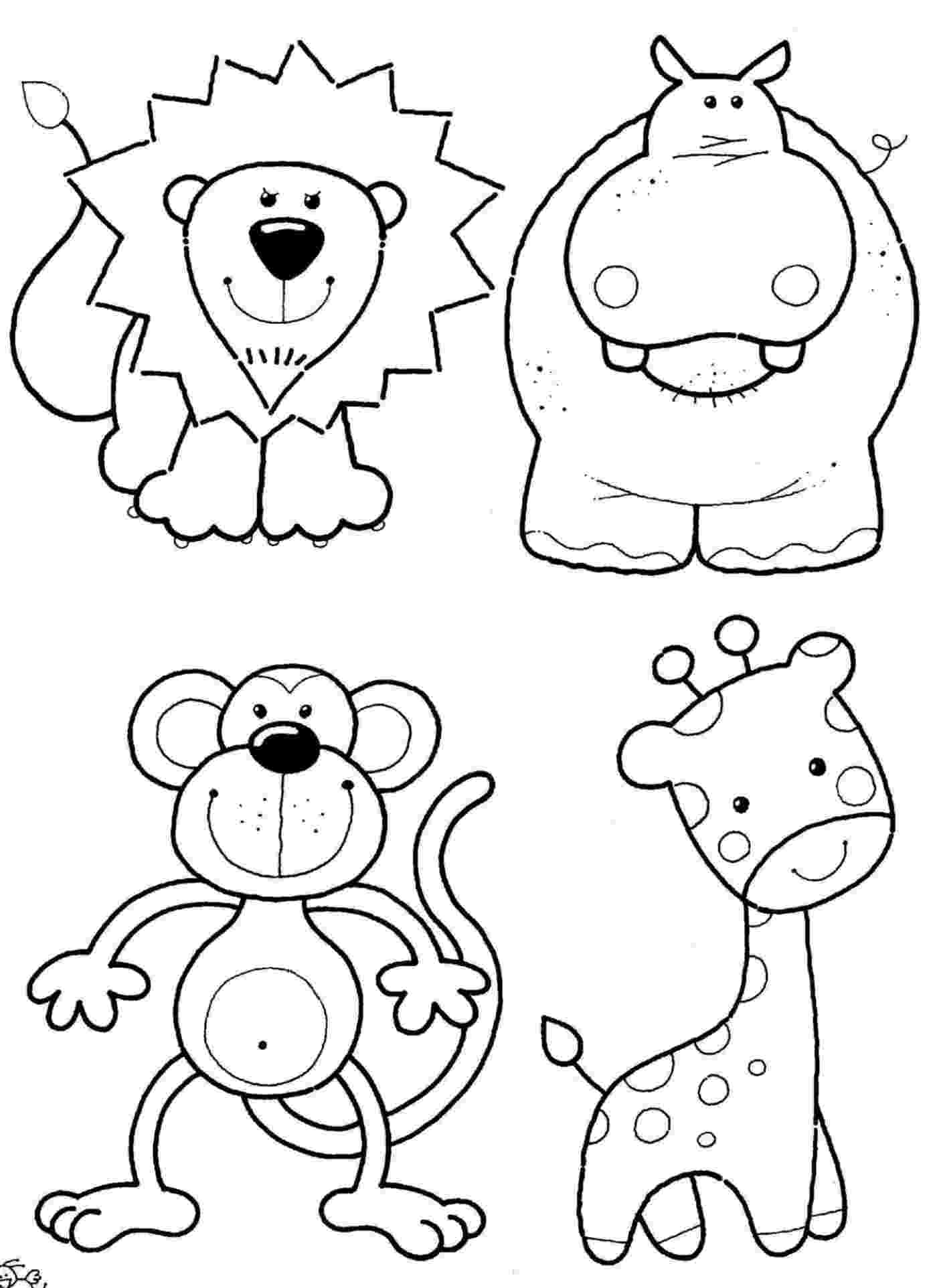animal coloring pages for kids animals coloring pages getcoloringpagescom for animal coloring kids pages