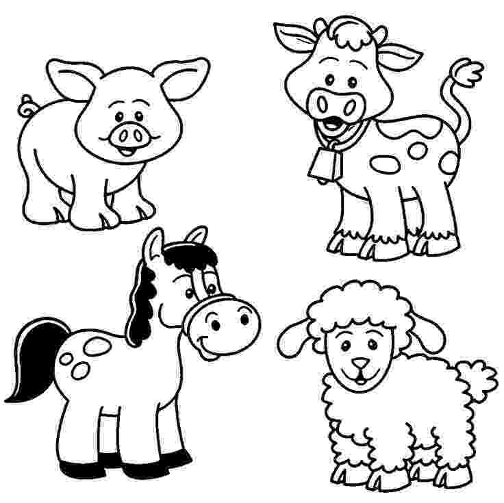 animal colouring pages free baby farm animal coloring pages farm animal coloring colouring animal free pages