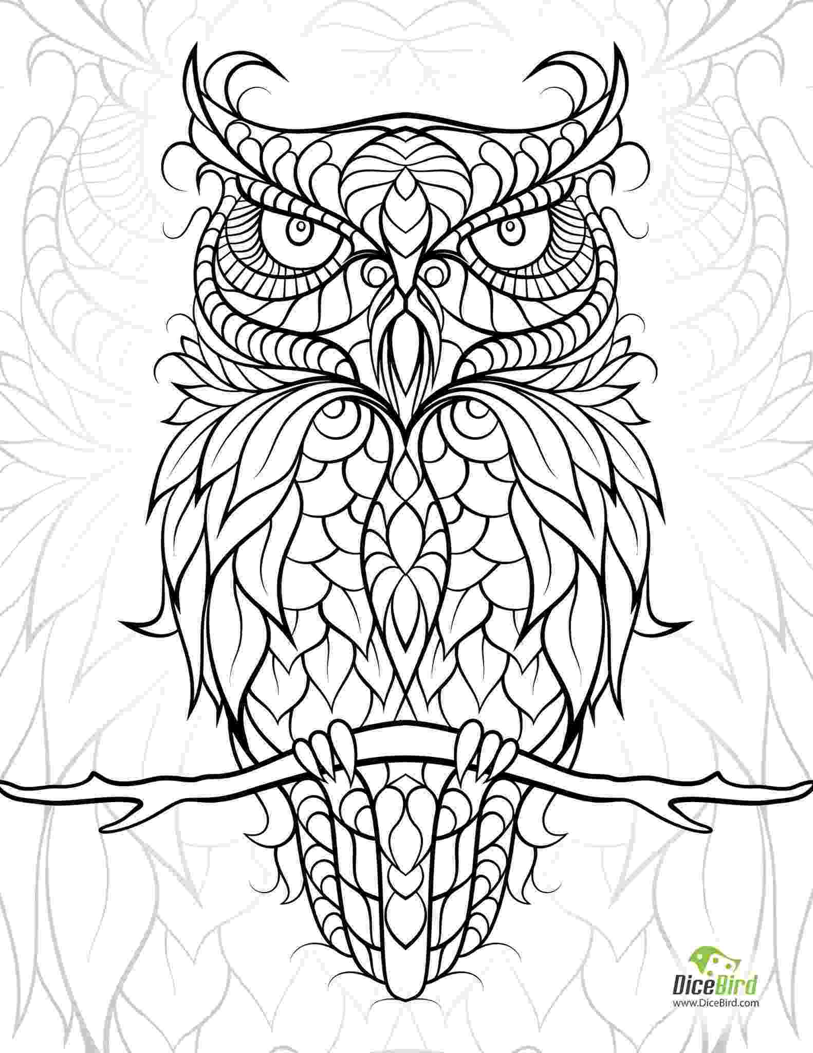 animal mosaic coloring pages download owl coloring page stamping pages mosaic animal coloring