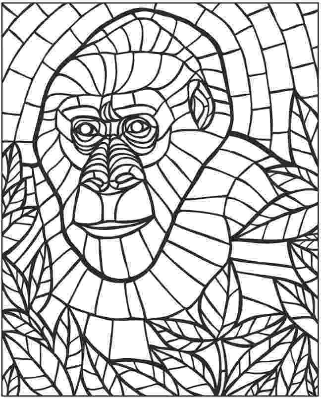 animal mosaic coloring pages mosaic animal coloring pages coloring pages mosaic pages coloring animal