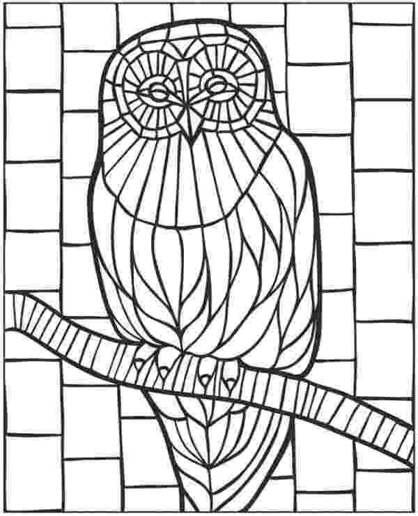 animal mosaic coloring pages mosaic coloring pages kidsuki animal coloring pages mosaic