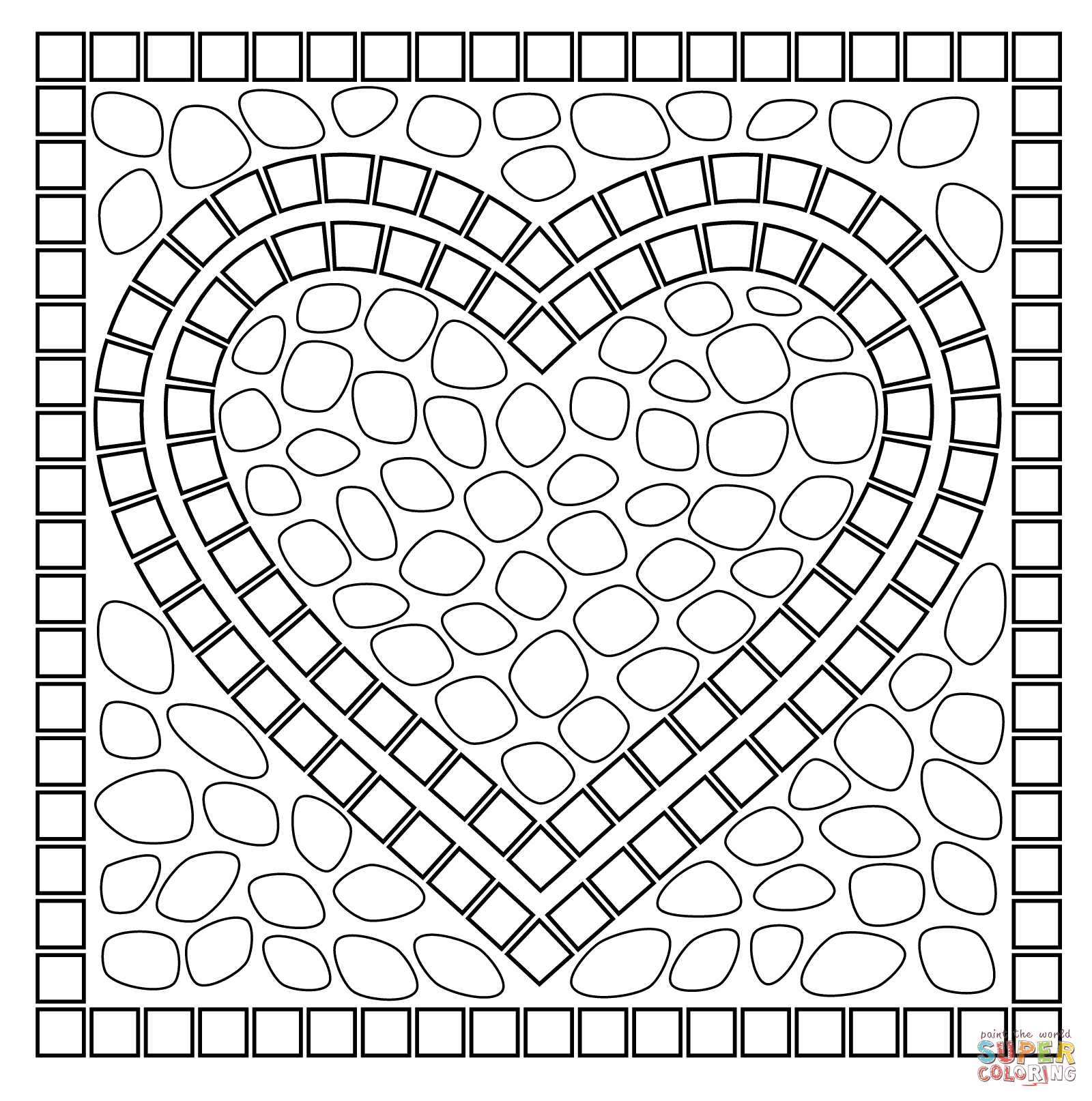 animal mosaic coloring pages mosaic coloring pages to download and print for free mosaic animal coloring pages