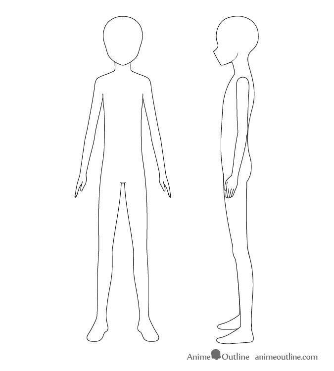 anime boy body how to draw an anime boy full body step by step animeoutline boy anime body