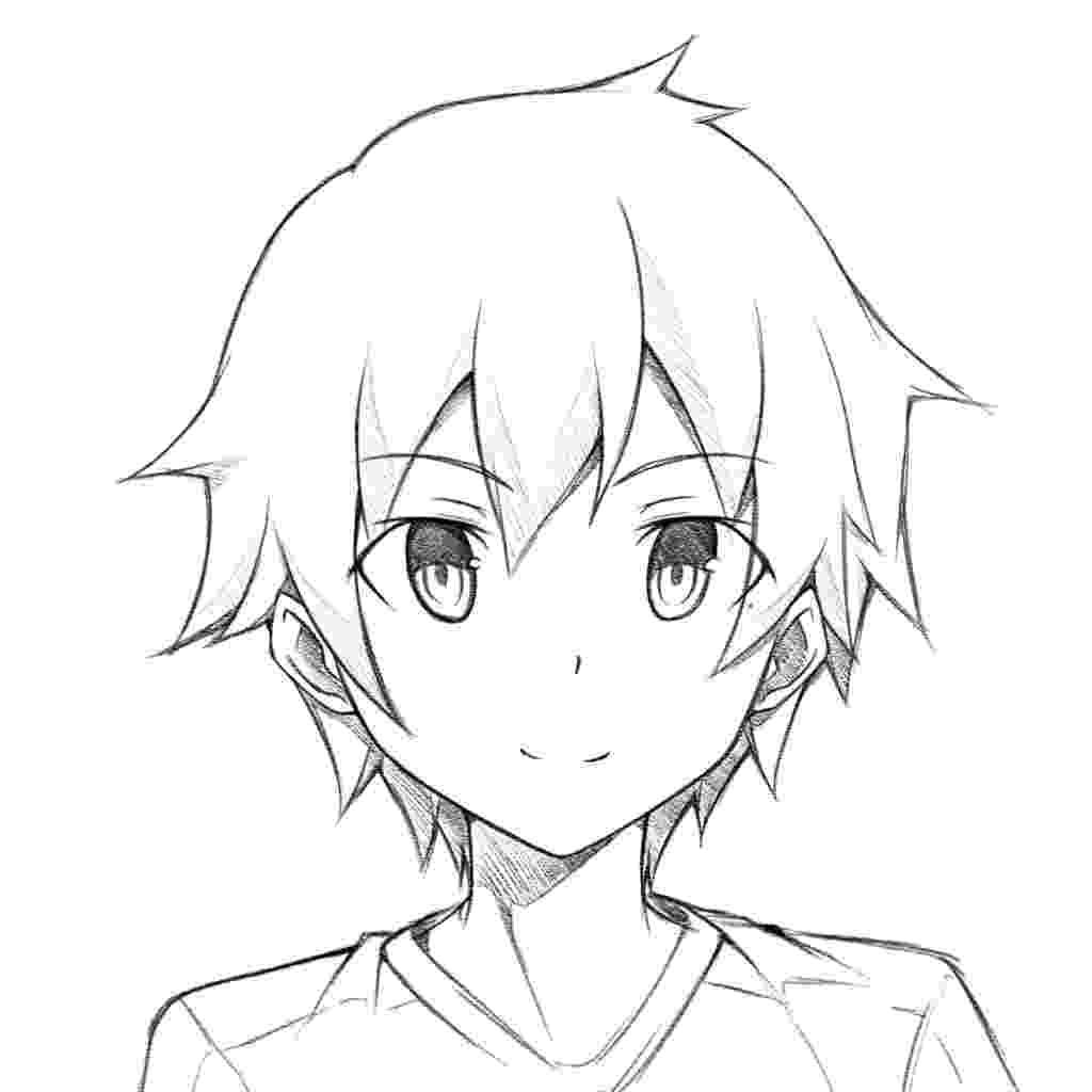 anime boy head anime head drawing at getdrawings free download head boy anime