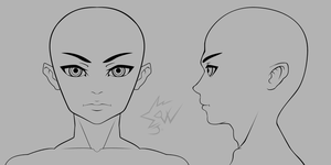 anime boy head anime head reference drawings how to draw hair anime head anime boy