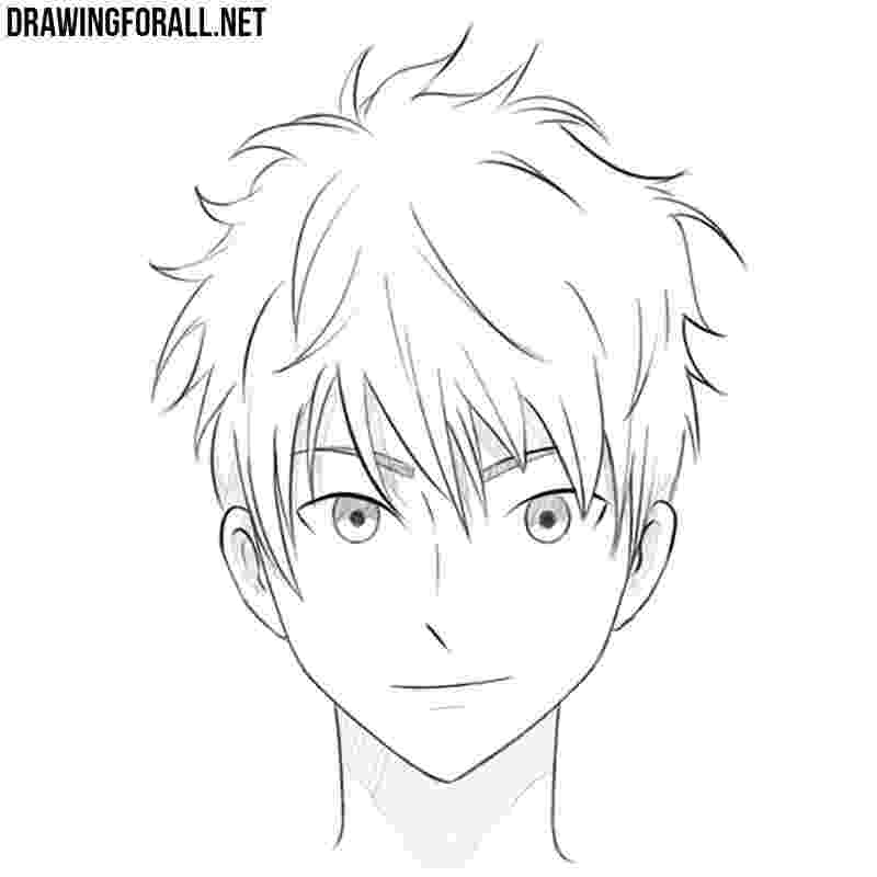 anime boy head how to draw an anime head drawingforallnet boy anime head