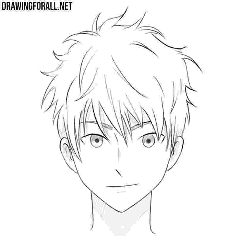 anime boy head how to draw an anime head drawingforallnet boy anime head